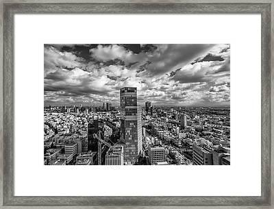 Tel Aviv High And Above Framed Print by Ron Shoshani