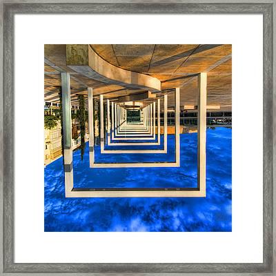 Tel Aviv Jump Framed Print by Ron Shoshani