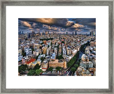 Tel Aviv Lookout Framed Print by Ron Shoshani