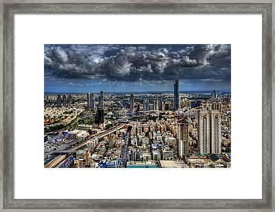 Tel Aviv Love Framed Print by Ron Shoshani