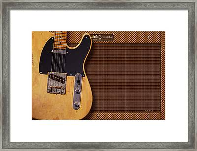 Telecaster Deluxe Framed Print by WB Johnston