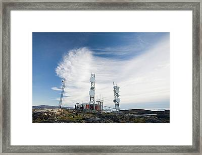 Telecommunication Equipment Framed Print by Ashley Cooper