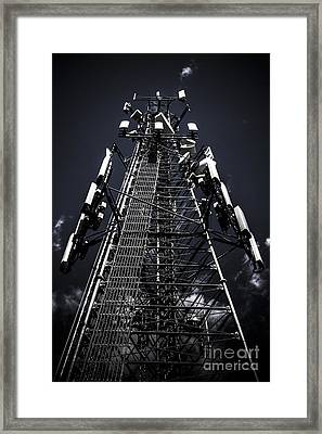 Telecommunications Tower Framed Print by Jorgo Photography - Wall Art Gallery