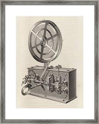 Telegraph Printer Framed Print by King's College London