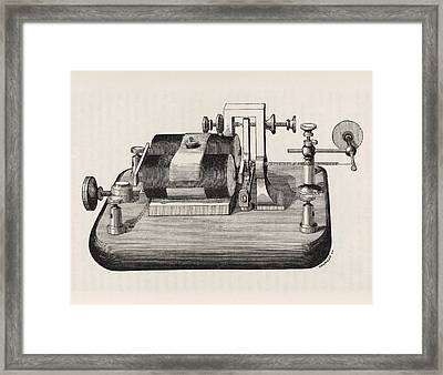 Telegraph Receiver Framed Print by King's College London
