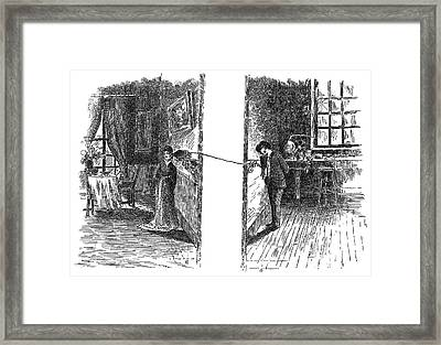 Telephone, 1876 Framed Print by Granger