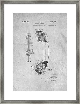 Telephone Patent Art Framed Print by Edward Fielding