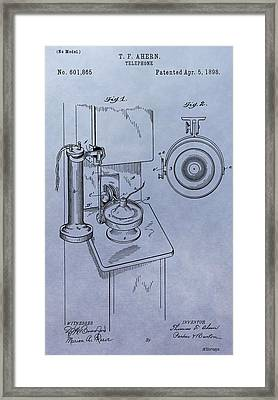 Telephone Patent Framed Print by Dan Sproul