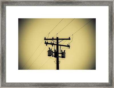 Telephone Pole 1 Framed Print by Scott Campbell
