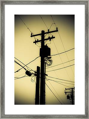 Telephone Pole 2 Framed Print by Scott Campbell