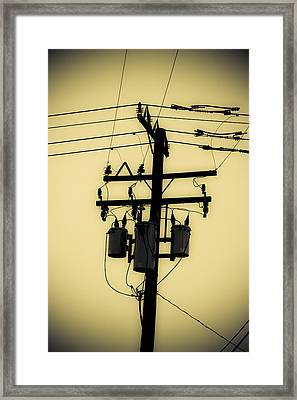 Telephone Pole 3 Framed Print by Scott Campbell