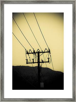 Telephone Pole 6 Framed Print by Scott Campbell