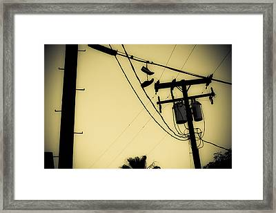 Telephone Pole 8 Framed Print by Scott Campbell
