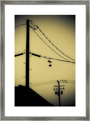 Telephone Pole And Sneakers 3 Framed Print by Scott Campbell