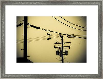 Telephone Pole And Sneakers 4 Framed Print by Scott Campbell