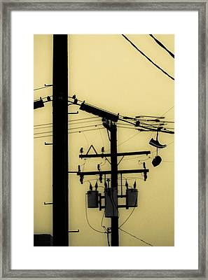 Telephone Pole And Sneakers 5 Framed Print by Scott Campbell