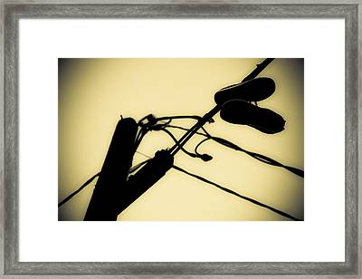 Telephone Pole And Sneakers 6 Framed Print by Scott Campbell