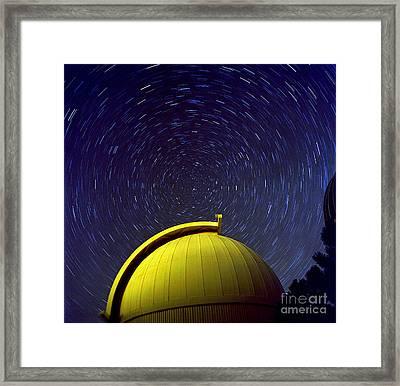 Telescope Dome With Circumpolar Rotation Framed Print by John Chumack
