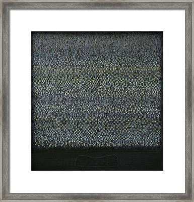 Television-pillow Framed Print by Oni Kerrtu