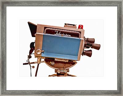 Television Studio Camera Hdr Framed Print by Edward Fielding