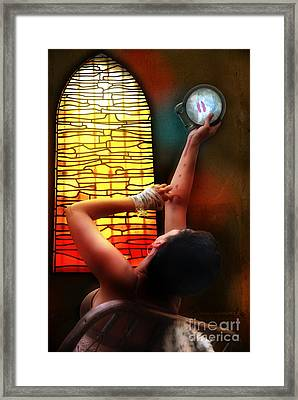 Tell Me Little Mirror Is That My Soul Framed Print by Rosa Cobos