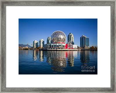 Telus World Of Science Vancouver Framed Print by Chris Dutton