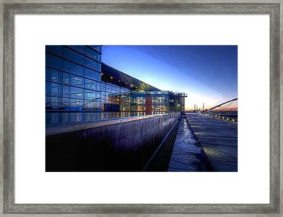 Tempe Center For The Arts Framed Print by Kelly Gibson