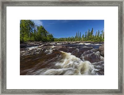 Temperance River 2 Framed Print by John Brueske