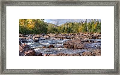 Temperance River Fall  Framed Print by Shane Mossman