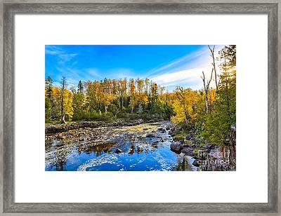 Temperance River Scene Framed Print by Bryan Benson