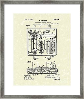 Temperature Regulator 1925 Patent Art Framed Print by Prior Art Design