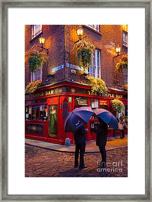 Temple Bar Framed Print by Inge Johnsson