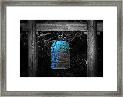 Temple Bell - Buddhist Photography By William Patrick And Sharon Cummings  Framed Print by Sharon Cummings