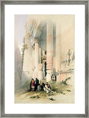 Temple Called El Khasne Framed Print by David Roberts