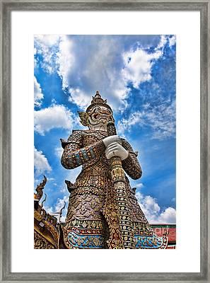 Temple Guardian Framed Print by Joerg Lingnau