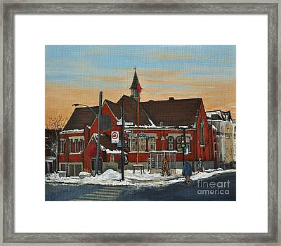 Temple Gurudwara Sahib  Pointe St Charles Framed Print by Reb Frost