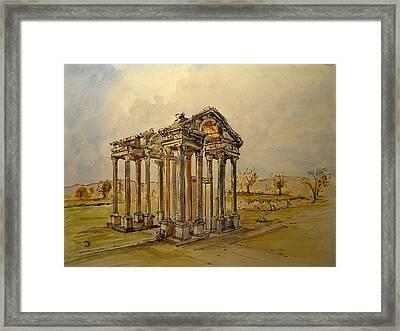 Temple Of Aphrodite Framed Print by Juan  Bosco