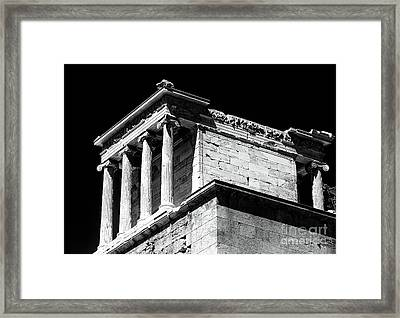 Temple Of Athena Nike Framed Print by John Rizzuto