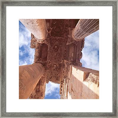 Temple Of Bacchus, Roman Framed Print by Roman School