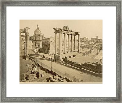 Temple Of Concord Framed Print by Granger