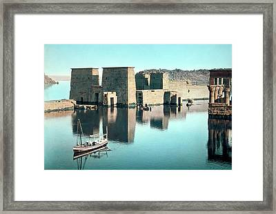 Temple Of Isis At Philae Framed Print by Library Of Congress