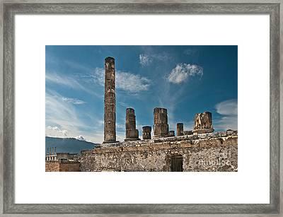 Temple Of Jupiter Framed Print by Marion Galt