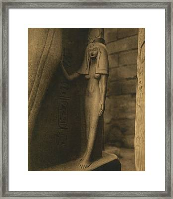 Temple Of Luxor Framed Print by Underwood Archives