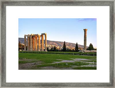 Temple Of Olympian Zeus. Athens Framed Print by Ilan Rosen