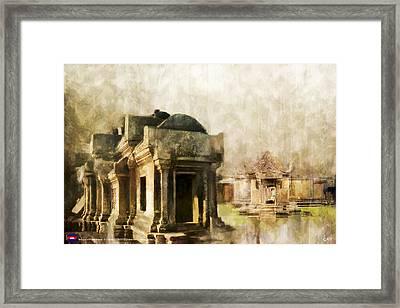 Temple Of Preah Vihear Framed Print by Catf