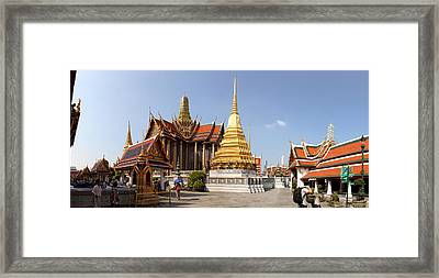 Temple Of The Emerald Buddha - Grand Palace In Bangkok Thailand - 01135 Framed Print by DC Photographer