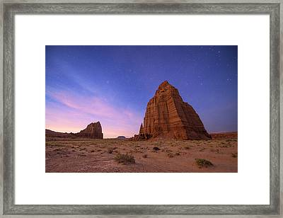 Temple Of The Sun And Moon Framed Print by Dustin  LeFevre
