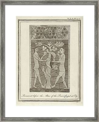 Temptation Of Adam And Eve Framed Print by Middle Temple Library