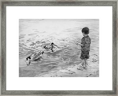 Tempting Framed Print by Suzanne Schaefer