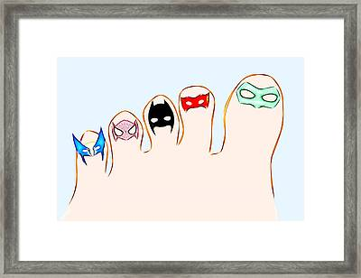 Ten Little Heroes - Left Framed Print by Carlos Vieira